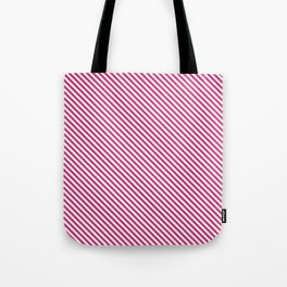 Pink Yarrow Stripe Tote Bag