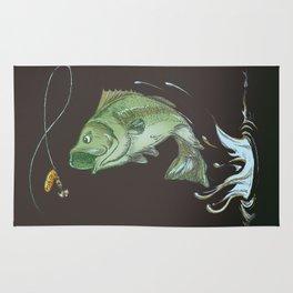 Bass Jumping At Night Rug