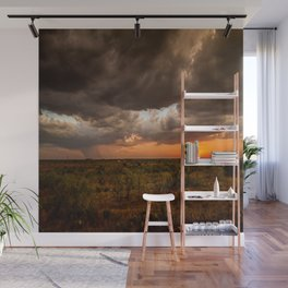 West Texas Sunset - Colorful Landscape After Storms Wall Mural