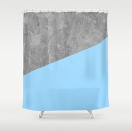 Geometry 101 Blue Raspberry Shower Curtain