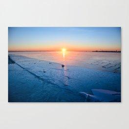 Frozen Sunrise pt. 2 Canvas Print