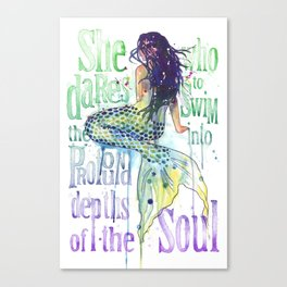 Mermaid : Profound Depths Canvas Print