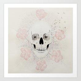 SakuraSkull Art Print