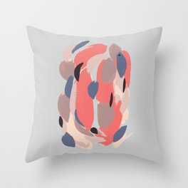 Brightly Colored Abstract Painting Digitized Throw Pillow