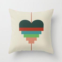 heart geometry Throw Pillow
