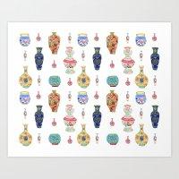 Porcelain Pattern Art Print