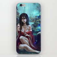 kitsune iPhone & iPod Skins featuring Kitsune by Kate  Fox