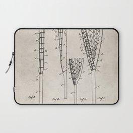 Lacrosse Stick Patent - Lacrosse Player Art - Antique Laptop Sleeve