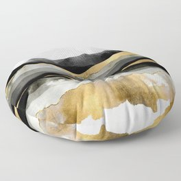 Golden Spring Moon Floor Pillow