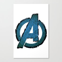 UNREAL PARTY 2012 AVENGERS LOGO FLYERS Canvas Print