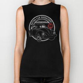 Retro Car Workshop Biker Tank