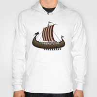 vikings Hoodies featuring Vikings by mangulica illustrations