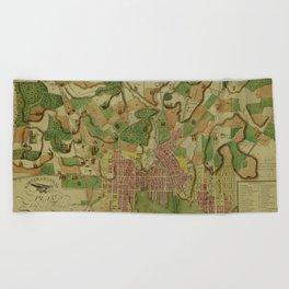 Map Of Baltimore 1801 Beach Towel