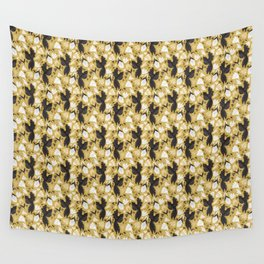 Birds & Bugs in Yellow Wall Tapestry