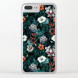 NIGHT FOREST XXI Clear iPhone Case