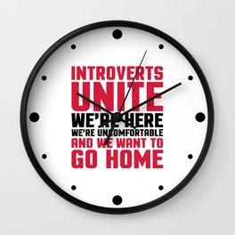 Introverts Unite Funny Quote Wall Clock