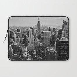 Black & White NYC Skyline Laptop Sleeve