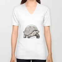 tortoise V-neck T-shirts featuring Tortoise by Twentyfive