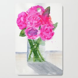 Peonies in a Vase Cutting Board