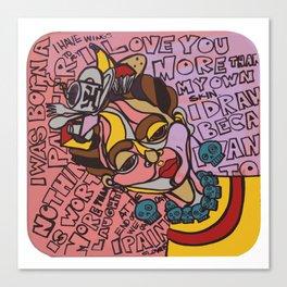 Frida Speaks Her Mind Canvas Print