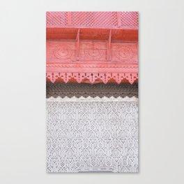 Pink Al Balad Coral House Canvas Print