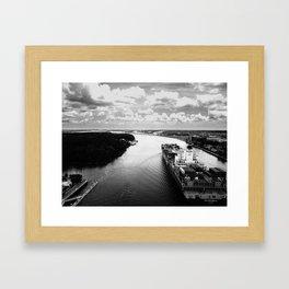Savannah River Cargo Framed Art Print