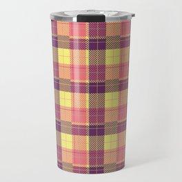 Vintage checkered retro style old plaid pattern Travel Mug