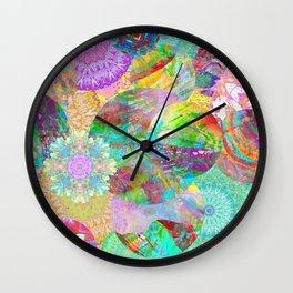 Rainbow Mandala Magic Wall Clock