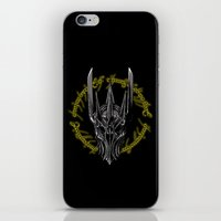 middle earth iPhone & iPod Skins featuring The Dark Lord of middle Earth by ddjvigo