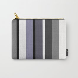 Grey stripes pattern Carry-All Pouch