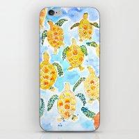 turtles iPhone & iPod Skins featuring Turtles by Julie Lehite