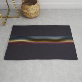 Thin Stripes Retro Colors Rug