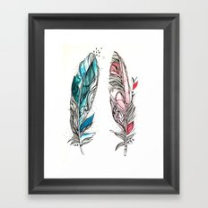You & Me Feathers Framed Art Print