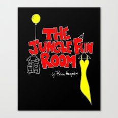 The Jungle Fun Room:  Blackboard Artwork Canvas Print