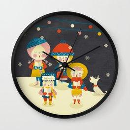 Christmas Carols Singers Wall Clock