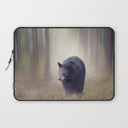 Black bear walking in the woods Laptop Sleeve