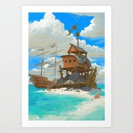 Pirate Oasis Art Print