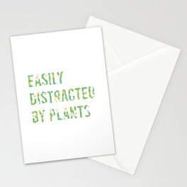 Easily Distracted By Plants Stationery Cards