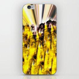Purple Yellow  iPhone Skin
