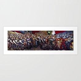 'Dictatorship of the Porfirio Diaz to the Revolution' Landscape by David Alfaro Siqueiros Art Print