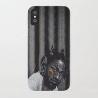 kendrick lamar iPhone & iPod Cases featuring KENDRICK LAMAR by Duroarts