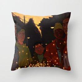 Summer nights Throw Pillow