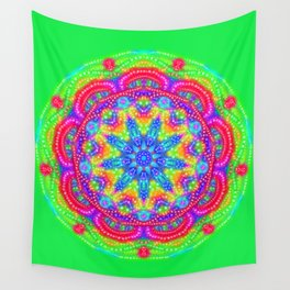 Amazing Day Neon Mandala Wall Tapestry