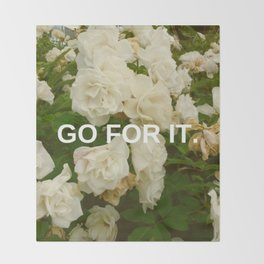 Go For It Throw Blanket