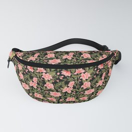 Tropical Pink Floral Pattern Fanny Pack