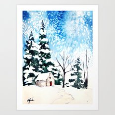 Flurries  Art Print