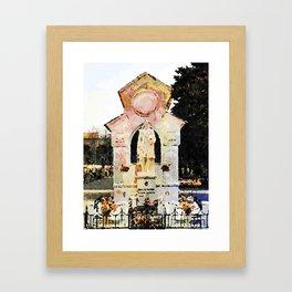 Catanzaro: tomb Framed Art Print