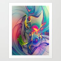 sunrise Art Prints featuring Sunrise by Klara Acel