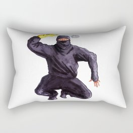 Bathroom Ninja Rectangular Pillow