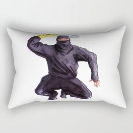 Bathroom Ninja Rectangular Pillow
